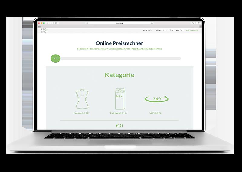 Online Preisrechner ProShot